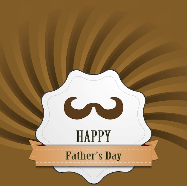 Father's day abstract retro vintage background. vector card design