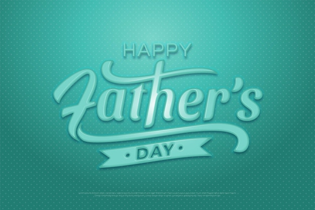 Father's day background in turquoise green plastic graphic style