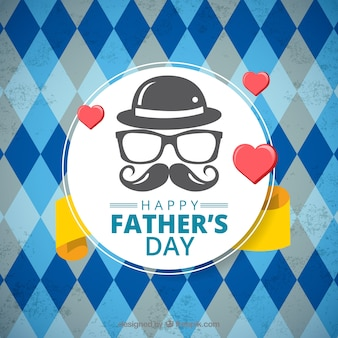Father's day background with blue pattern