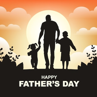 Father's day background with copy space