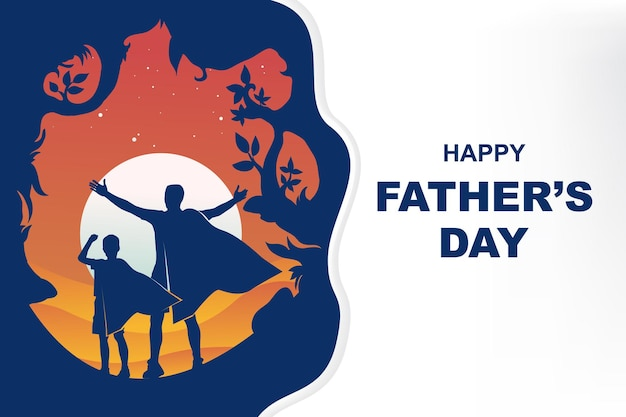 День отца фон с копией пространства