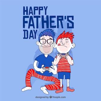 父と息子との父の日の背景