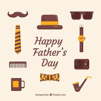 День отца с разными элементами