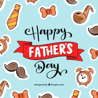 Father's day background with different elements