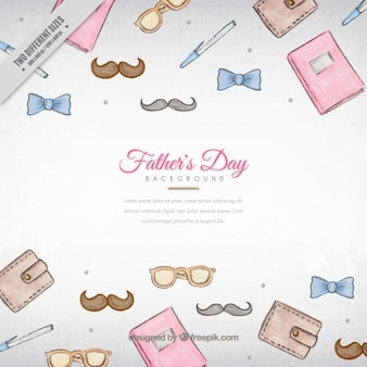 Father's day background with hand drawn elements