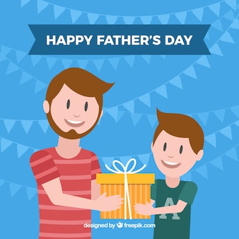 Father's day background with happy family