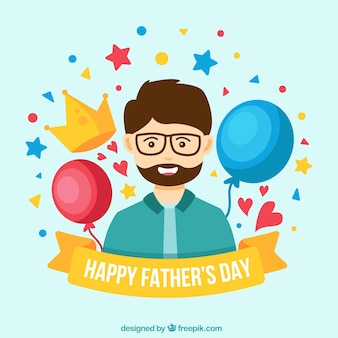 Father's day background with happy man