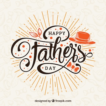 Father's day background with lettering