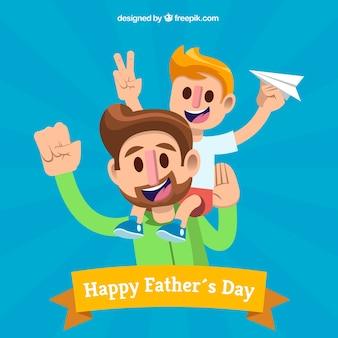 День отца с мандатом и сыном
