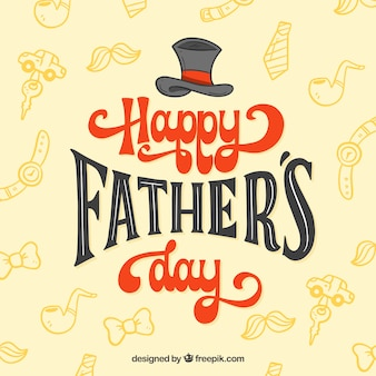 Father's day background with pattern and lettering