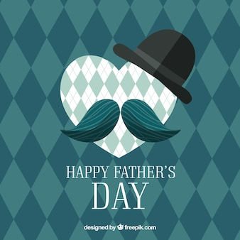 Father's day background with rhombus pattern