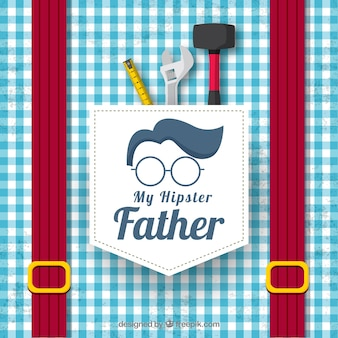 Father's day background with shirt pattern