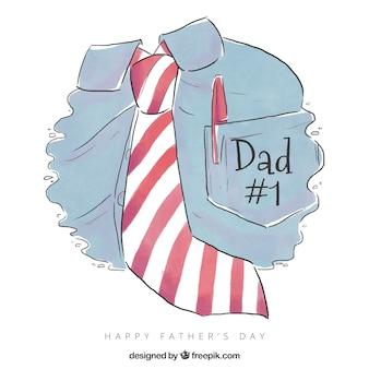 Priorità bassa di festa del papà con camicia e cravatta