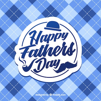 Father's day background with squares pattern