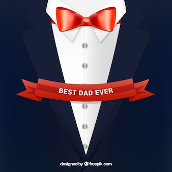 Father's day background with suit in flat style