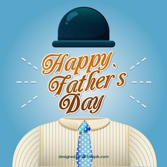 День отца с костюмом в плоском стиле