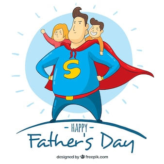 Father's day background with superdad