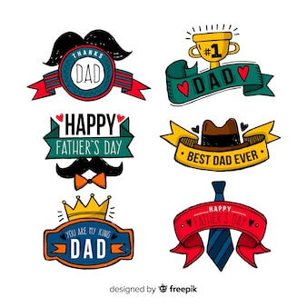 Father's day badge collection