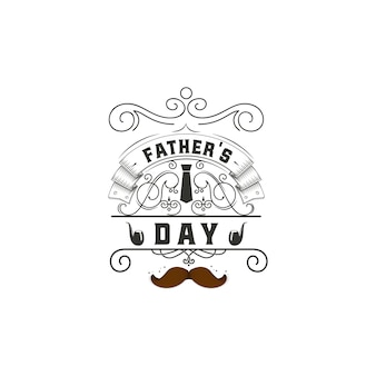 Father's day badge design