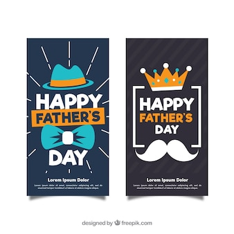 Father's day banners collection with accessories