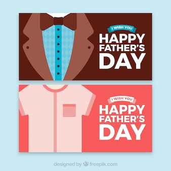 Father's day banners collection with clothes