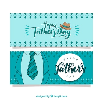 Father's day banners collection with suit