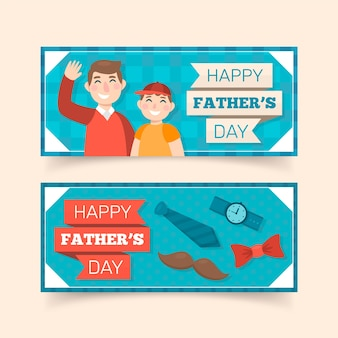 Design piatto banner festa del papà