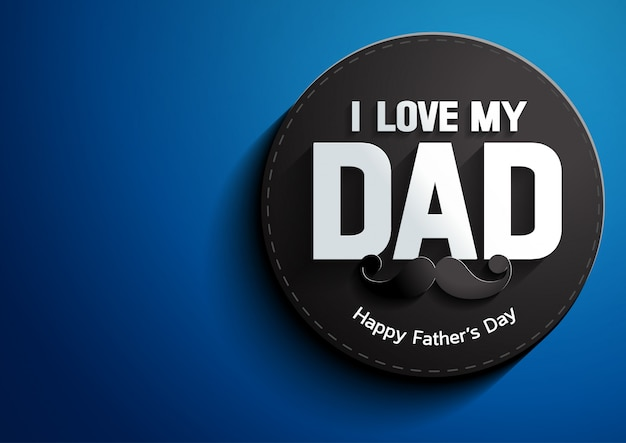 Father's day on blue background