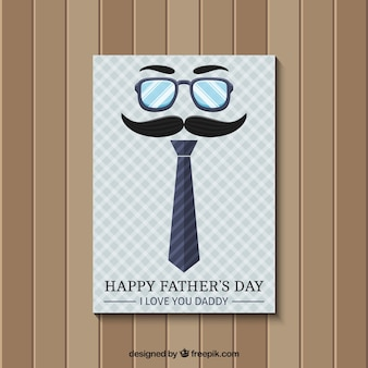 Father's day card in retro style