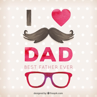 Father's day card with a moustache