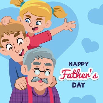 День отца праздник плоский стиль