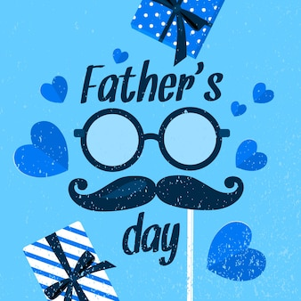 Father's day concept in flat design