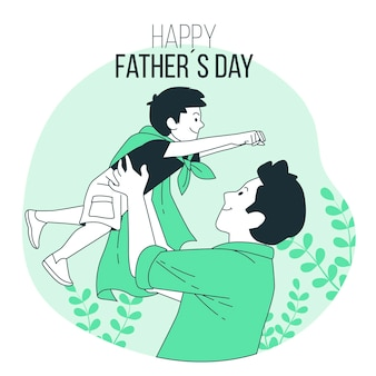 Father's day concept illustration