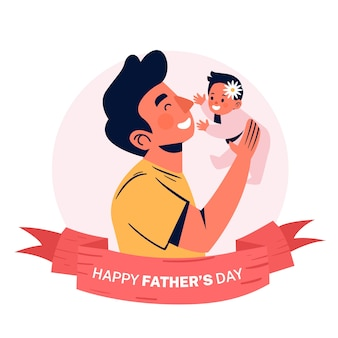 Father's day flat design