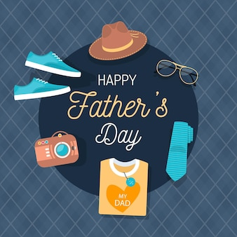 Father's day in flat design