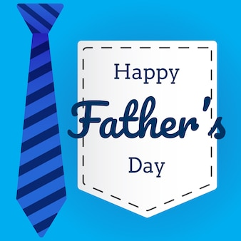Father's day greeting card in flat style