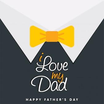 Amo il mio papà happy father day background