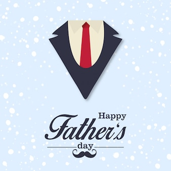 Father's day greetings card with light background vector