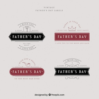 Father's day labels collection in vintage style