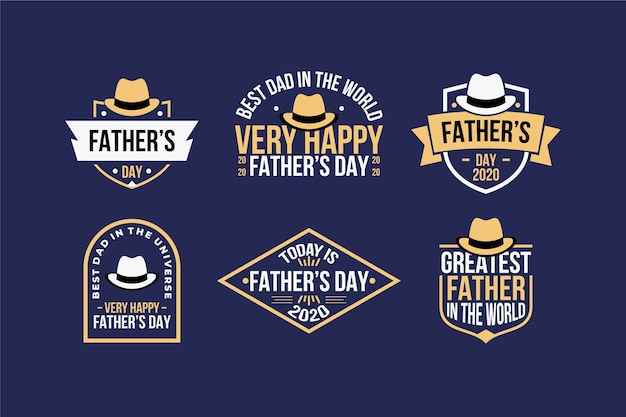 Father's day labels concept