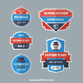 Father's day offer labels