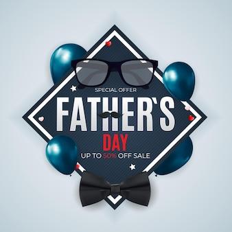 День отца распродажа фоновый плакат
