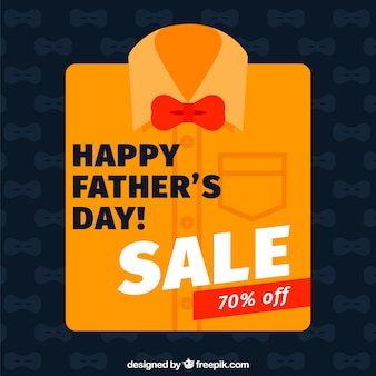 Father's day sale background with flat shirt