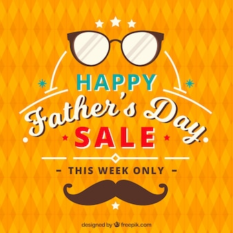 Father's day sale background with pattern