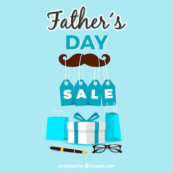 Father's day sale background with presents