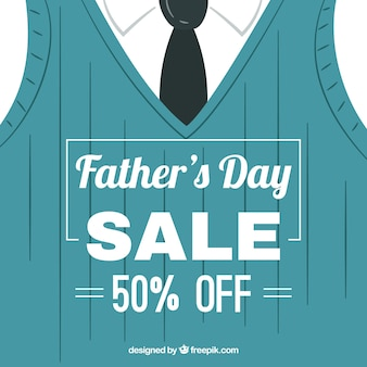 Father's day sale background with suit