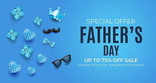 Father's day sale banner