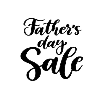 Father's day sale handwritten lettering