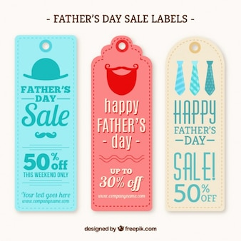 Father's day sale labels in vintage style