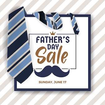 Father's day sale promotion banner
